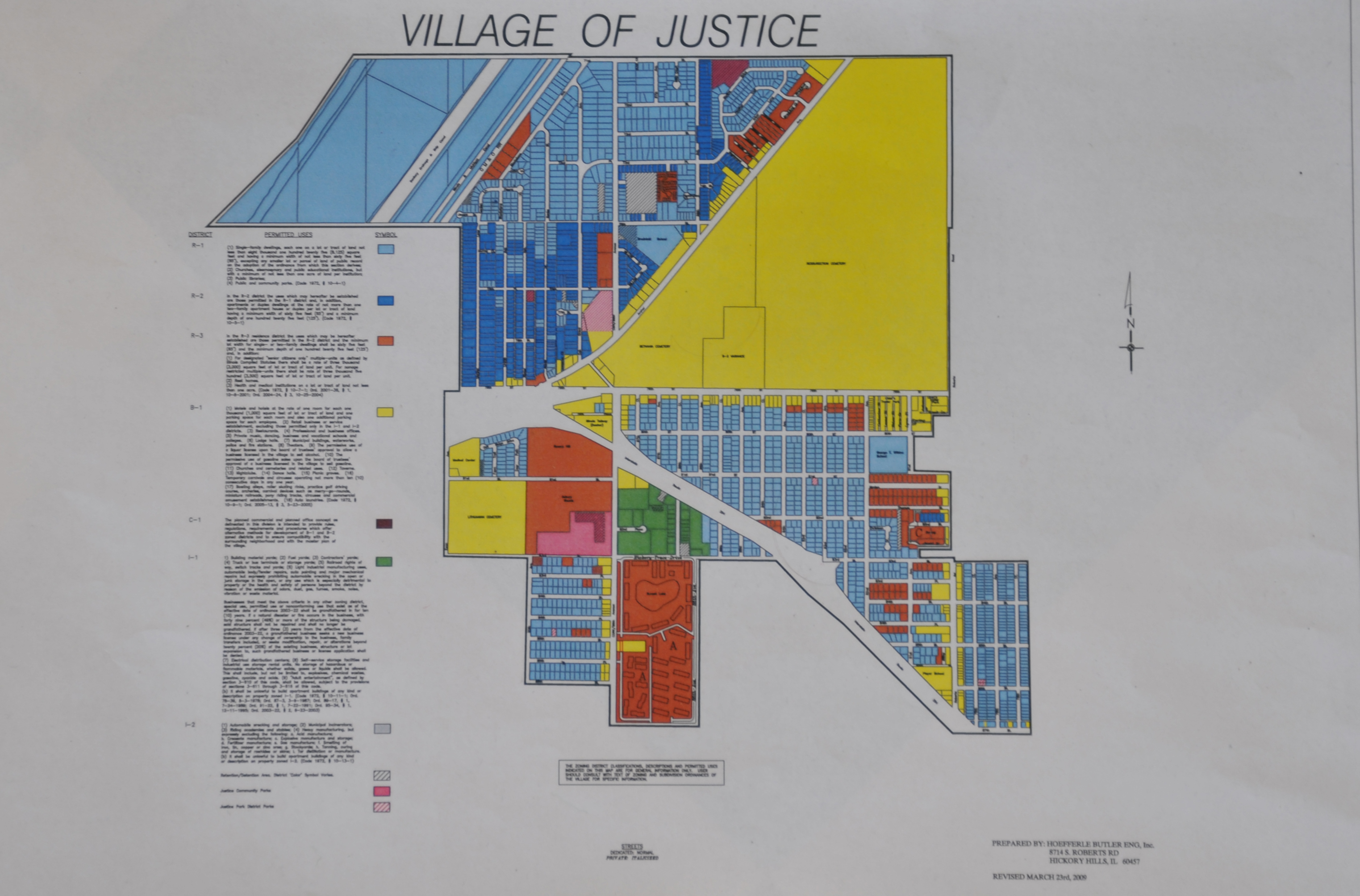 Zoning Maps For Bedford Park Justice And Hodgkins Illinois - Map of the us hodgkins ilinois